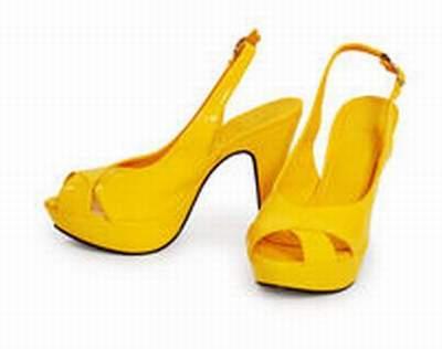 chaussures jaunes femmes,chaussure talon jaune fluo,chaussures foot jaune  fluo